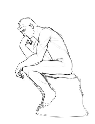 the-thinker-statue-by-auguste-rodin-coloring-page